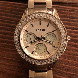 Fossil Three Handed Watch - Gold